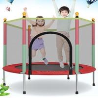 New High Quality Children Trampoline Round Mute Fitness Trampoline With Safety Net Baby's Mobile Park Children Indoor Playground