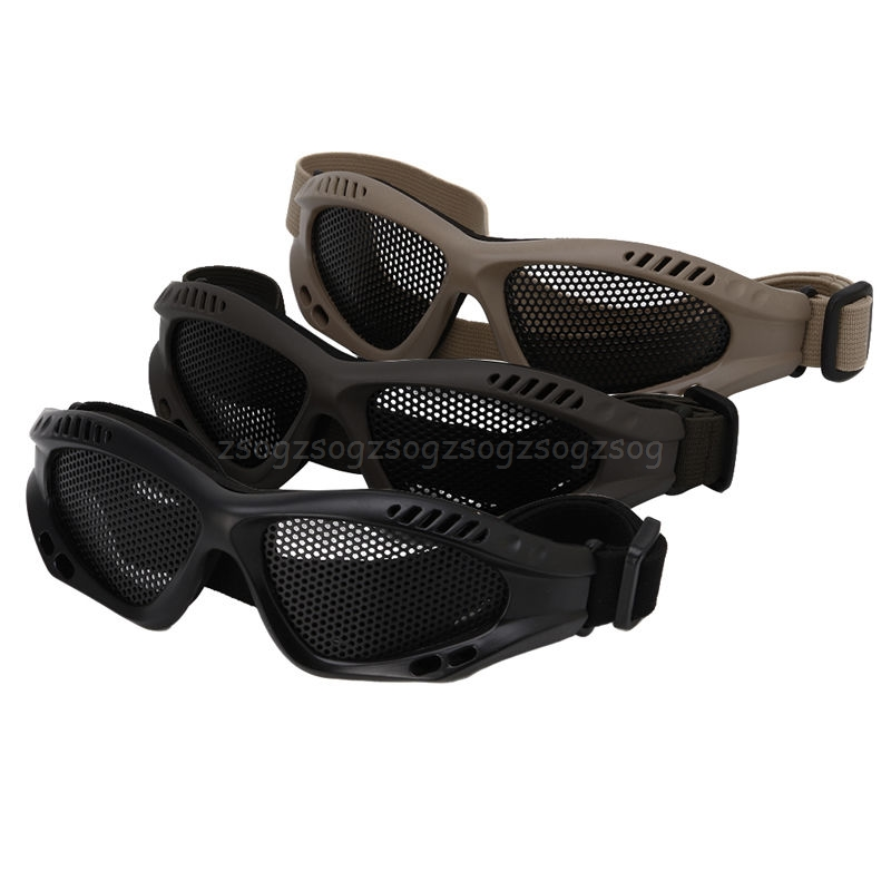 Tactical Motorcycle Airsoft Eye Protection Goggles Anti Fog Mesh Metal Glasses J24 19 Dropship