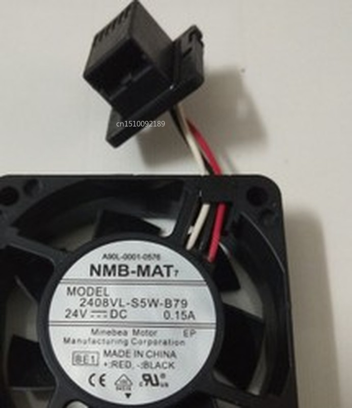 For NMB-MAT 2408VL-S5W-B79 Server Cooler Fan DC 24V 0.15A 60x60x20mm Free Shipping