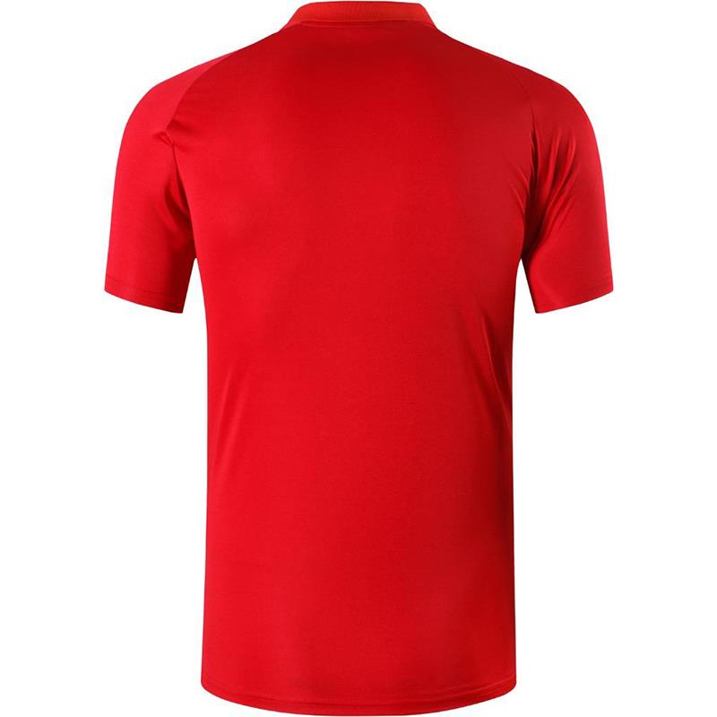 jeansian Men's Sport Tee Polo Shirts POLOS Poloshirts Golf Tennis Badminton Dry Fit Short Sleeve LSL243 Red2 3