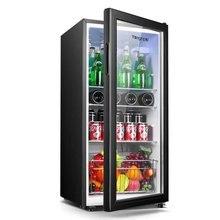 Refrigerator Tea-Cabinet Beverage Living-Room Household 90-Liter Ice-Bar Energy-Saving
