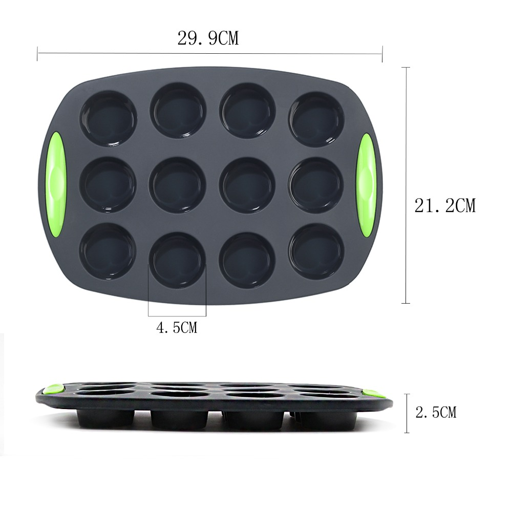 To encounter Grey Color Silicone Baking Pans Non Stick Bakeware Set BPA Free Food Grade Silicone Cake Molds for Baking