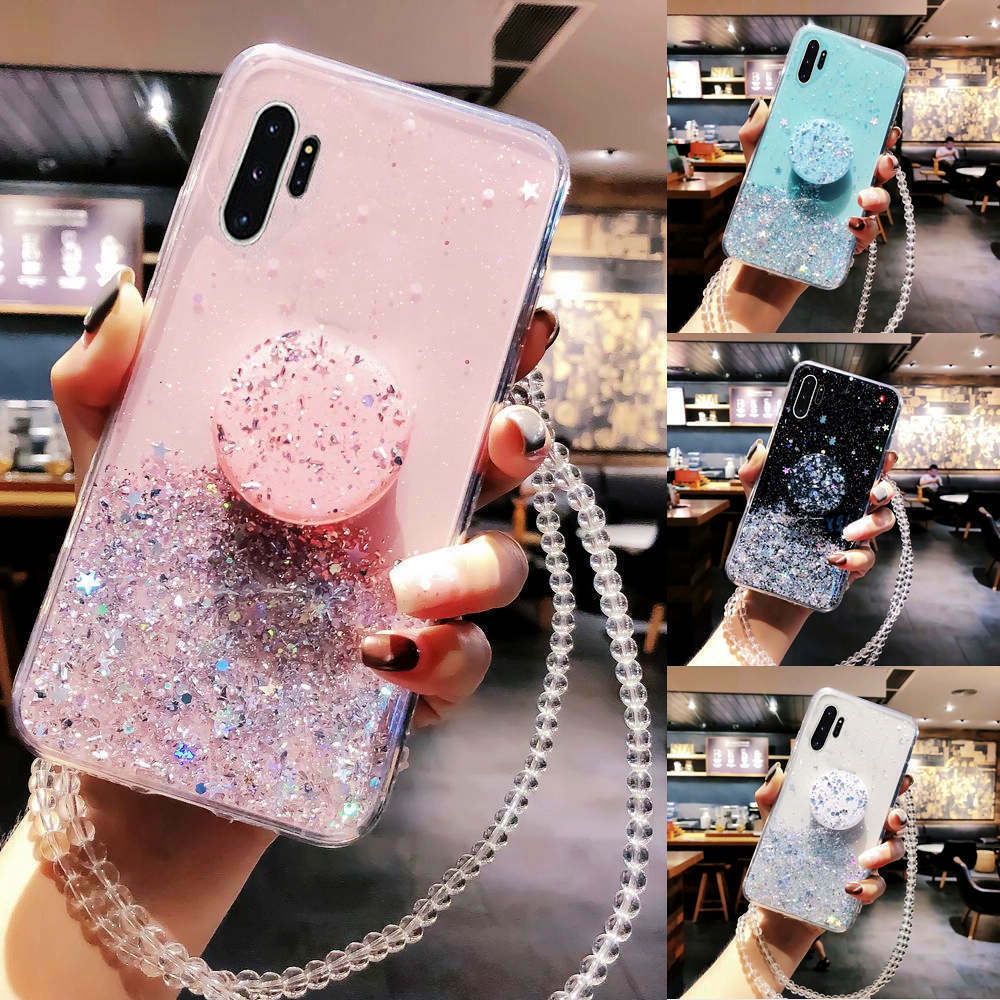 Bling Glitter Case For Samsung Galaxy S10 Plus S20 A50 A10 A20 A30 A40 A70 Note 10 9 8 S9 S20 Plus Case With Stand Holder Case