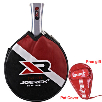 Tennis table racket long handle short handle carbon blade rubber with double face pimples in ping pong rackets with case 2pcs ping pong racket table tennis blade long short handle pingpong bat set with 3 balls double face pimples in rubber blades