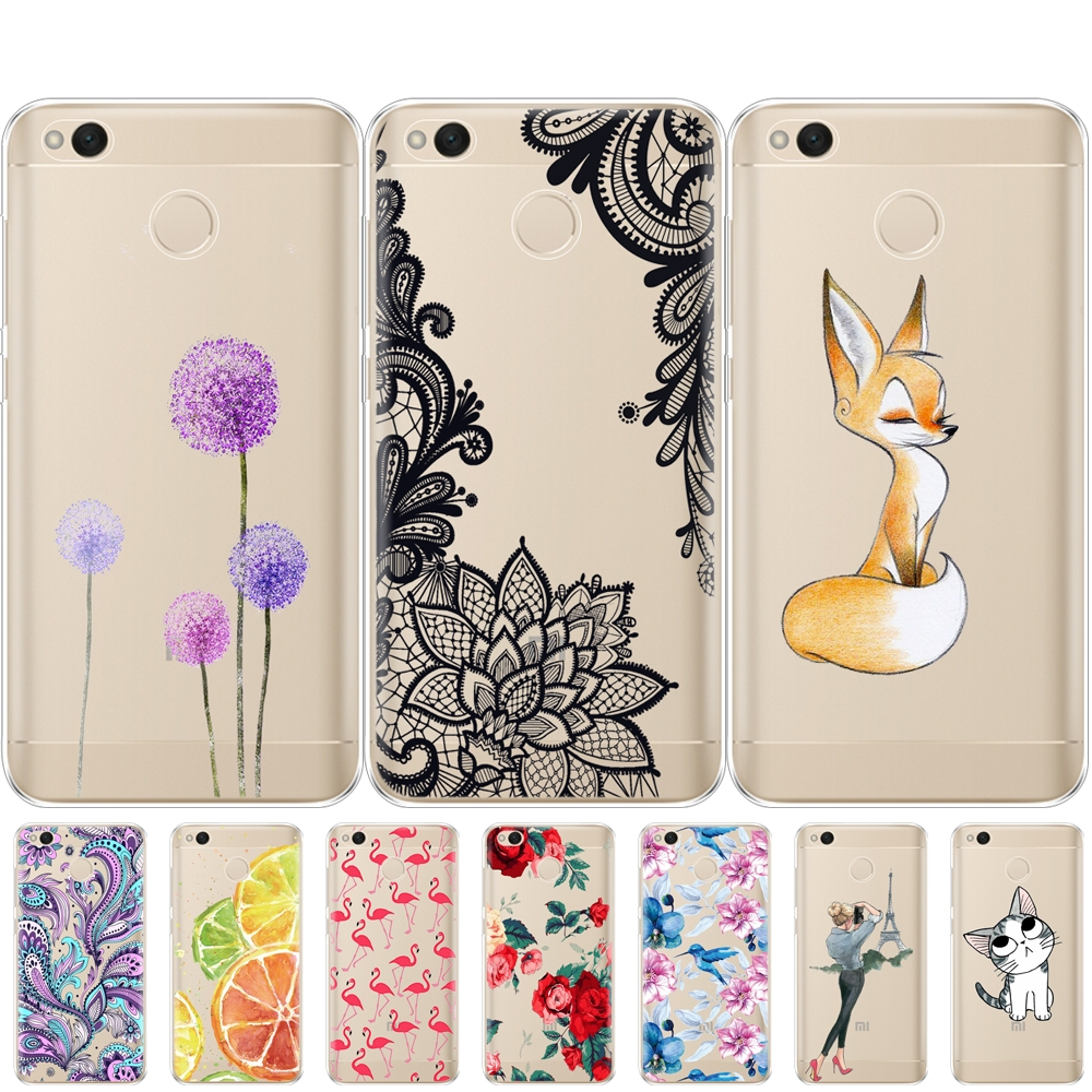 Mobile Phone Bag Case For Xiaomi Redmi 4X Case Cover Silicon Cover For Xiaomi Redmi 4X Pro Case Cover Full 360 Protective Shell