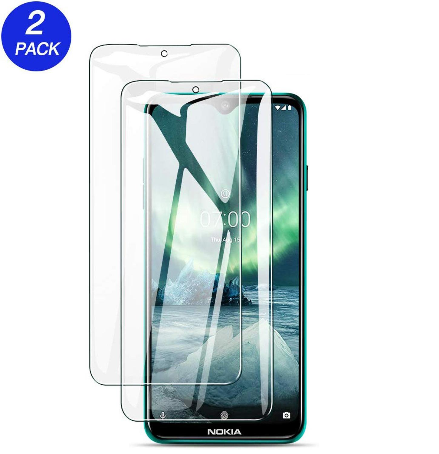 2PCS/lot Tempered Glass For <font><b>Nokia</b></font> <font><b>7.2</b></font> <font><b>Screen</b></font> <font><b>Protector</b></font> Potective Film For <font><b>Nokia</b></font> <font><b>7.2</b></font> TA-1196 TA-1181 TA-1178 TA-1193 <font><b>Nokia</b></font> 6.2 image