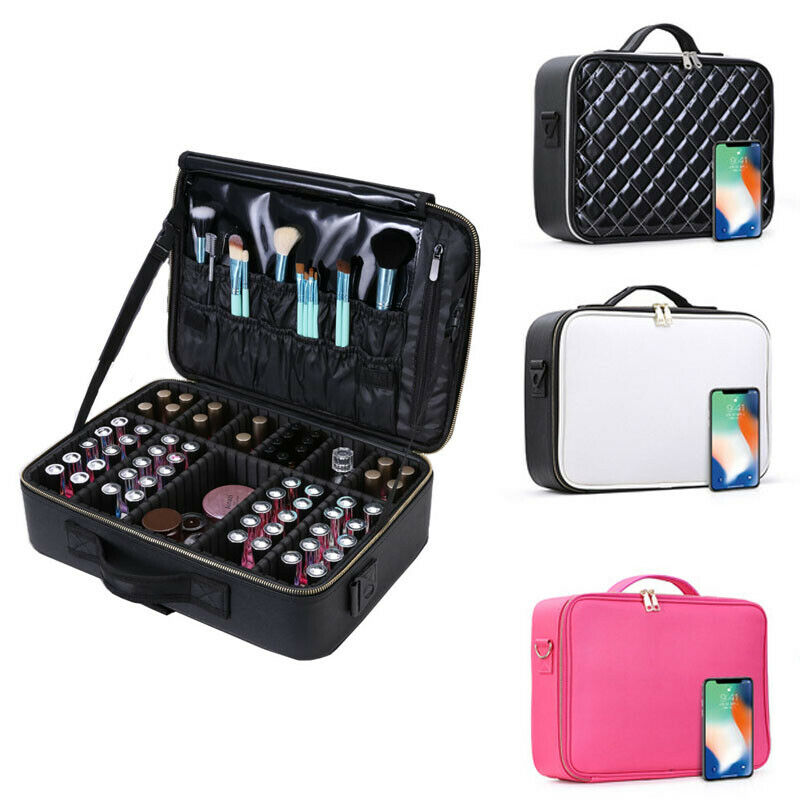 Cosmetic Bag Large Capacity Multi-storey Professional Make Up Bag Cosmetic Case