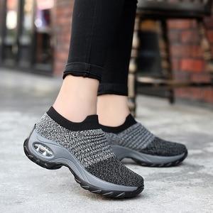 Image 3 - Zapatillas Mujer Mới Dành Cho Nữ Tenis Feminino Sock Không Khí Giảm Chấn Thường Lưu Hóa Giày Scarpe Donna Iệu Damskie Size 35  42