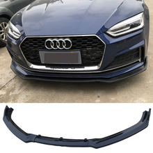 Car front bumper 3-section carbon fiber pattern ABS material for Audi A5 B9 2017-2019 car exterior parts