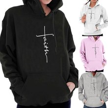 SFIT Women Fashion Stakeboarding Hoodies Jesus Religious Printed Sweatshirt Pullover Hooded Tops for Female Casual Streetwear fashion casual printed floral hooded sweatshirt