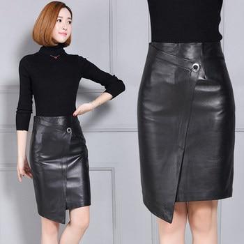 2020 Women New Real Genuine Sheep Leather Skirt K12 2020 new fashion real genuine sheep leather skirt g16