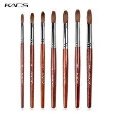 KADS – brosse à ongles acrylique, outil de manucure pour Gel UV, en bois rouge, plate et ronde