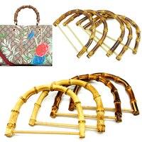 Mango de bambú en forma de D/redonda para bolso, hecho a mano, asa para bolso, fabricación de Marcos, colgador de bolsa, 1 ud.
