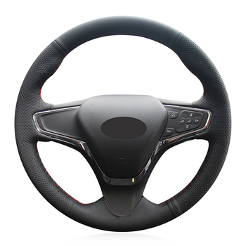 Hand-stitched Black Genuine Leather Car Steering Wheel Cover for Chevrolet Cruze 2015 Volt 2016 2017 New Cruze
