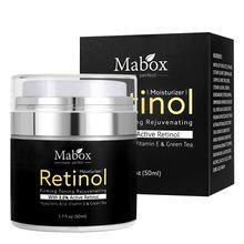50ml Retinol 2.5% nemlendirici yüz kremi Vitamin E kollajen Retin Anti-Aging kırışıklıkları sivilce hyaluronik asit beyazlatıcı krem