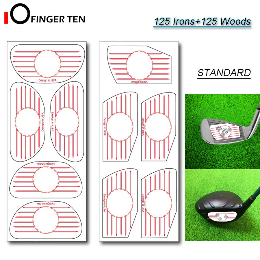 Golf Impact Tape 125 Irons And 125 Woods Ball Hitting Board Combo Recorder Club Labels Stickers Kit For Swing Practice