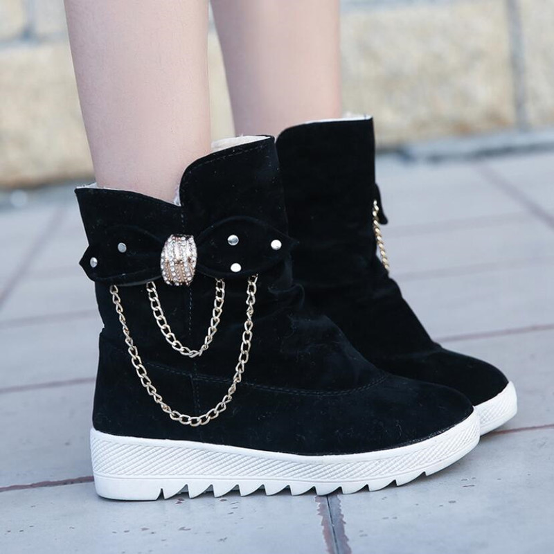 2019 Winter New Snow Boots Women's Boots Women's Tube Casual Bow Snow Boots Warm Cold Burning Feet Women's Boots Cotton Shoes 50