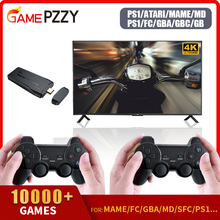 Video Game Consoles Built-in 10000 Games Retro Game Console With Wireless Controller Video Games Stickers For PS1/GBA