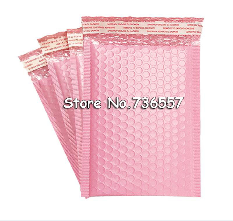 <font><b>Pink</b></font> 130*200mm 5.1 x7.8inch Usable space Poly <font><b>bubble</b></font> <font><b>Mailer</b></font> envelopes padded Mailing Bag Self Sealing [50pcs] image