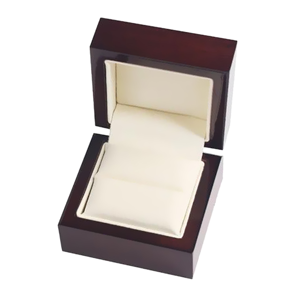 Luxury Wooden Jewelry Holder Display Gift Wedding Ring Box Case 60x60x45mm