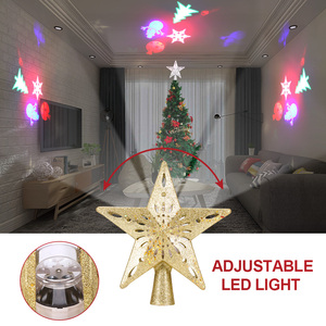 Image 4 - Christmas Tree Top Adjustable Star Led String Fairy Lights Curtain Led Christmas Xmas Wedding Decoration Party Garden Holiday