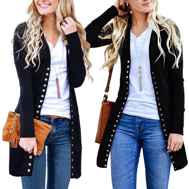 Herbst Winter Jacke Mantel Frauen Damen V-ausschnitt Langarm Lose Beiläufige Dünne Gestrickte Baggy Pullover Jumper Strickjacke Outwear Tops