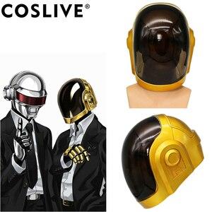 Coslive Daft Punk hełm z maską Cosplay żywica maska na całą głowę kostium na Halloween rekwizyty replika Daft Punk Cosplay maska dla dorosłych