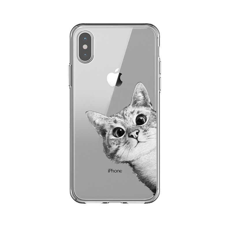 Haute qualité Transparent TPU Sac Funda pour iPhone 6 6s Plus 7 8 Plus X Xs Max XR 5 5s SE Mince Mickey Minnie coque souple