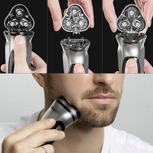 Image 5 - Youpin Enchen שחור אבן 3D לצוף ShaverHead כפול טבעות תער חותך ראשי CutterHead לגברים מתנה מיקום ShaverHead