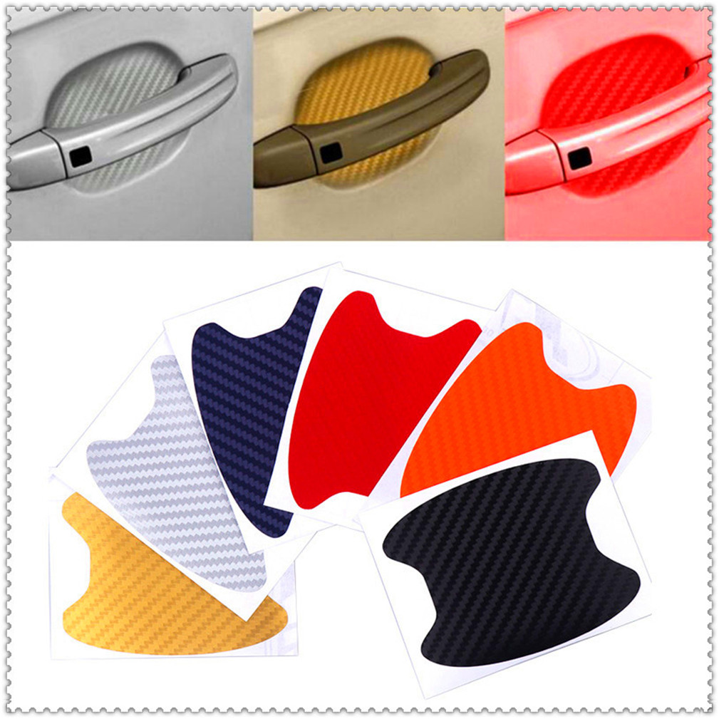 Car Protection Film Door Handle Sticker for Volkswagen <font><b>VW</b></font> POLO <font><b>Golf</b></font> 4 <font><b>Golf</b></font> 6 <font><b>Golf</b></font> <font><b>7</b></font> CC Tiguan Passat B5 Touareg2 GolfA5 GT image