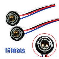 2 uds. 1157 casquillo de bombilla BAY15D adaptador de soporte de lámpara conector de Base para luz de freno