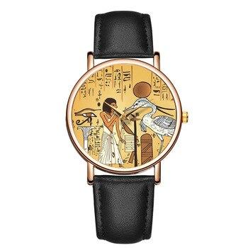2020 New Fashion Women's Watch Ladies Creative Retro Watches Leather Strap Quartz Clock Gift Reloj Mujer Montre Femme Zegarek - discount item  30% OFF Women's Watches