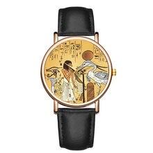 2020 новые женские модные часы дамы Творческий Ретро кожаный