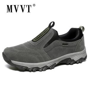 Image 1 - Outdoor Shoes Winter Suede Leather Men Shoes Fur Warm Casual Shoes Men Outdoor Men Sneakers Non slip Snow Shoes Hot Men Footwear