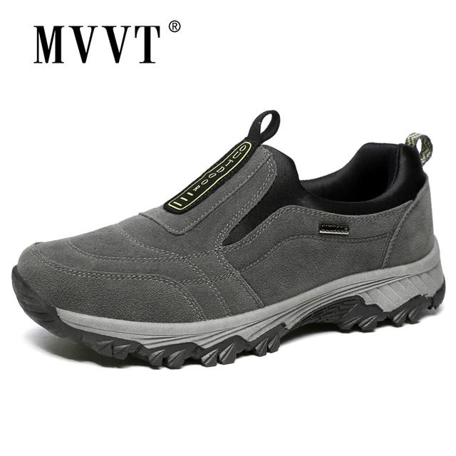 Outdoor Shoes Winter Suede Leather Men Shoes Fur Warm Casual Shoes Men Outdoor Men Sneakers Non slip Snow Shoes Hot Men Footwear