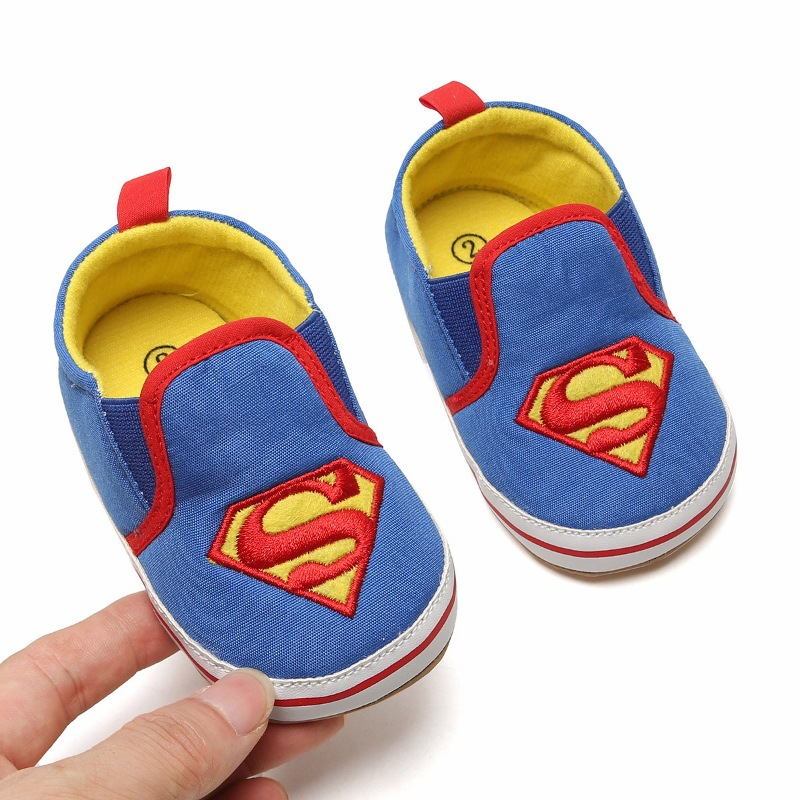 Baby Shoes Baby First Walkers Cotton Baby Crib Shoes red Spider-Man boy