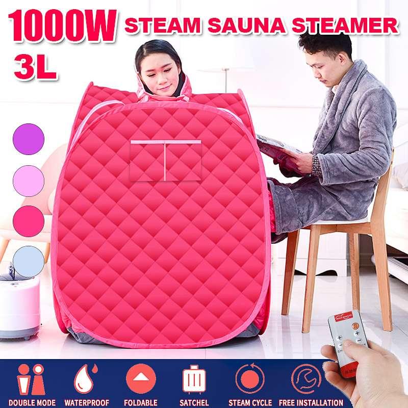 3L Steam Sauna Portable Spa Room Home Beneficial Full Body Slimming Folding Detox Therapy Steam Fold Sauna Cabin Sauna Generator