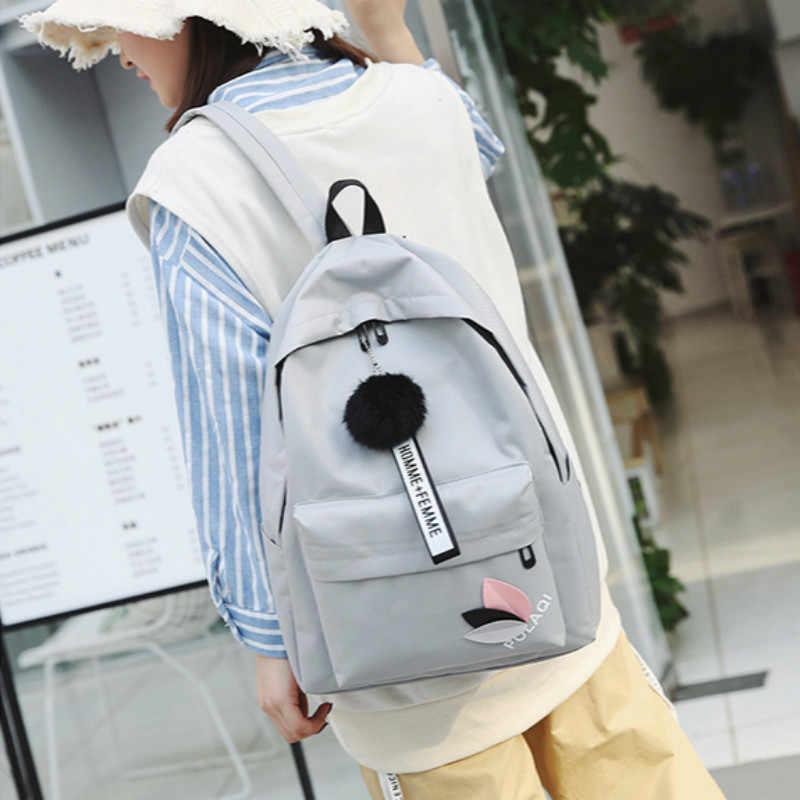 Plecak damski płócienne torby szkolne dla nastoletnich dziewcząt plecak damski plecak świeży nowy torba podróżna o dużej pojemności