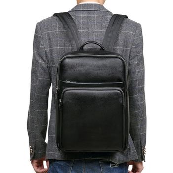 Luxury 100% Genuine Leather Backpack Bags Men High End Real Leather Back Pack Men Business Travel Backpack Cow Leather Mochilas