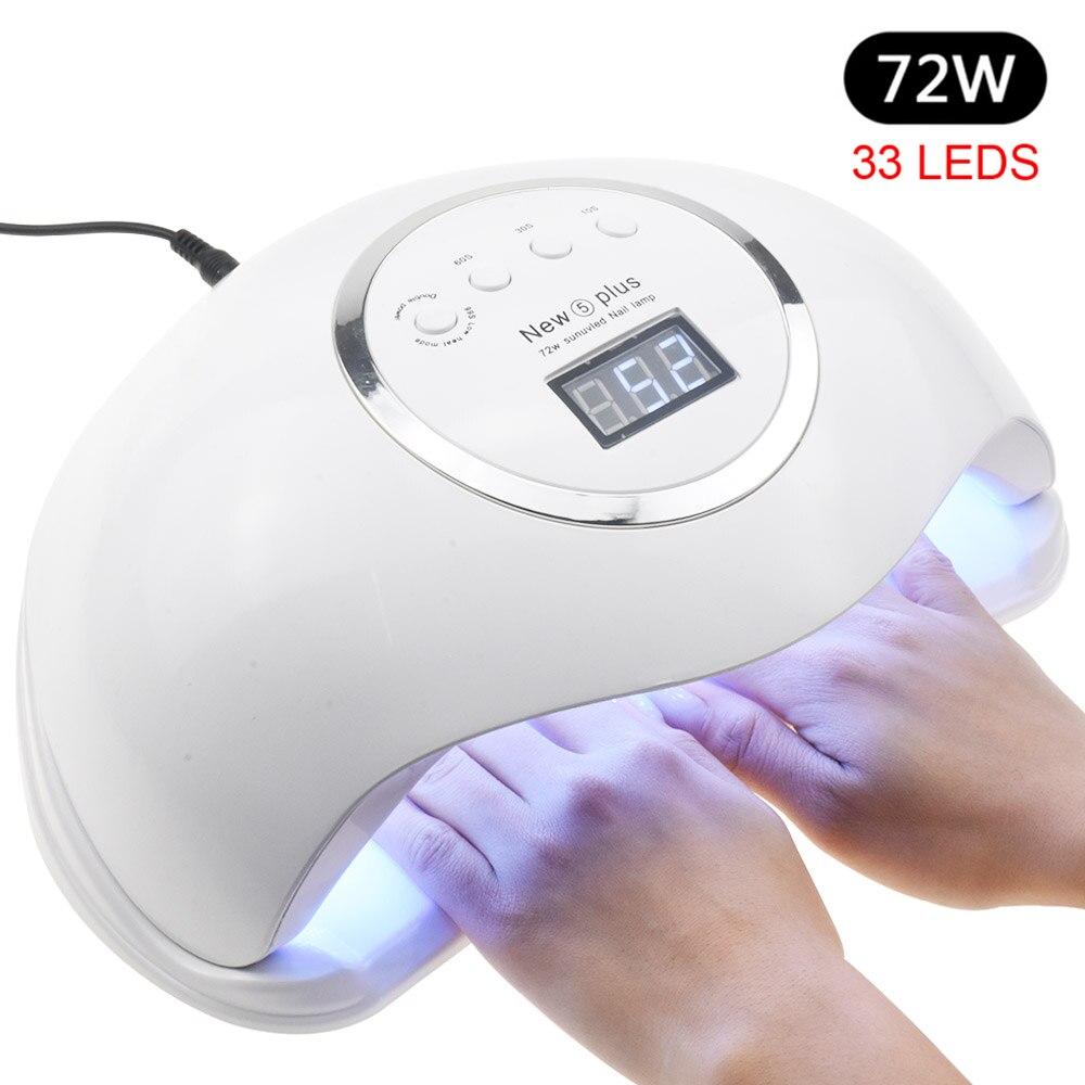 Pro 72W UV Lamp LED Nail Lamp High Power For Nails All Gel Polish Nail Dryer Auto Sensor Sun Led Light Nail Art Manicure Tools
