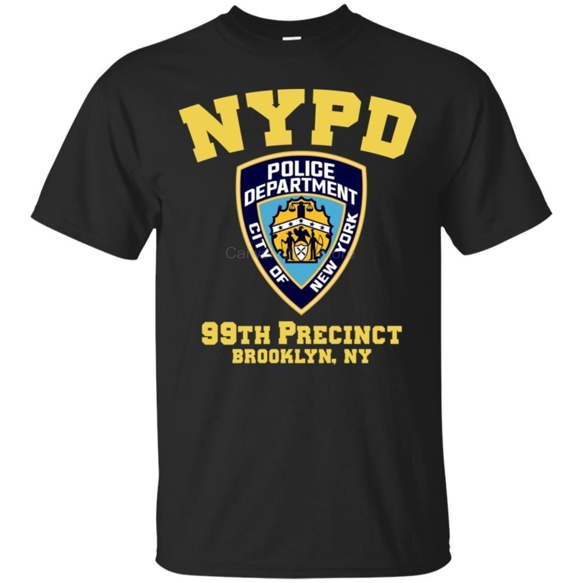 Men's 2019 Fashion Style T Shirt NYPD POLICE DEPARTMENT CITY OF NEW YORK 99TH PRECINCT BROOKLYN NY Short Sleeve Tshirt Trend