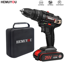 Battery Drill Electric-Screwdriver Rechargeable Household 25V