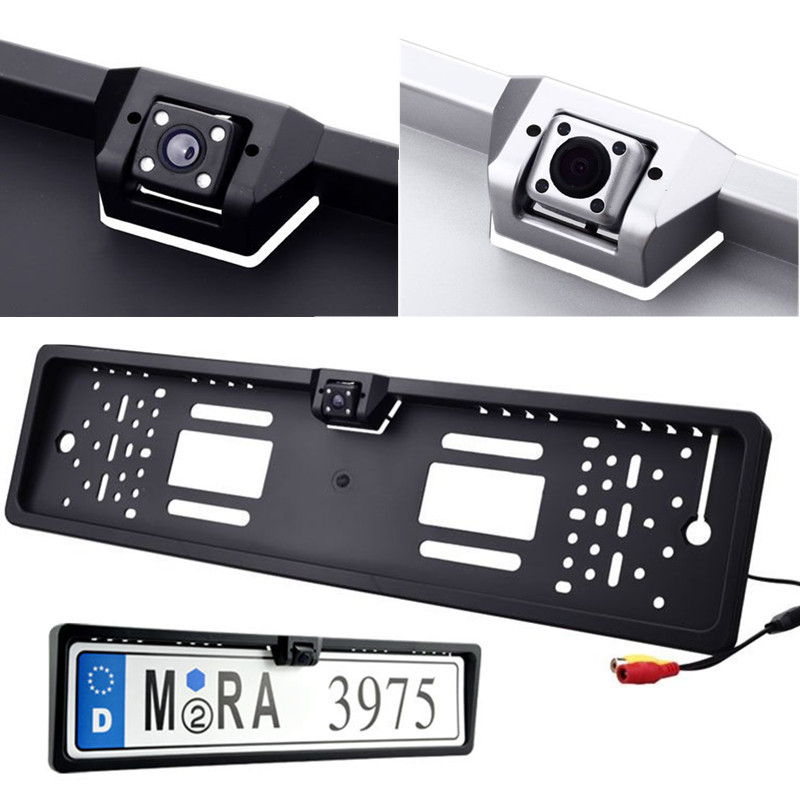 Car Rear View Camera EU European License Plate Frame Waterproof Night Vision Auto Reverse Backup Camera