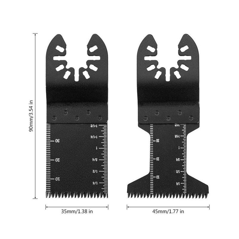 20Pcs Professional Oscillating Tool Blades Quick Release Saw Blade For Wood Metal Plastic Cutting For Fein Multimaster, Ryobi, M