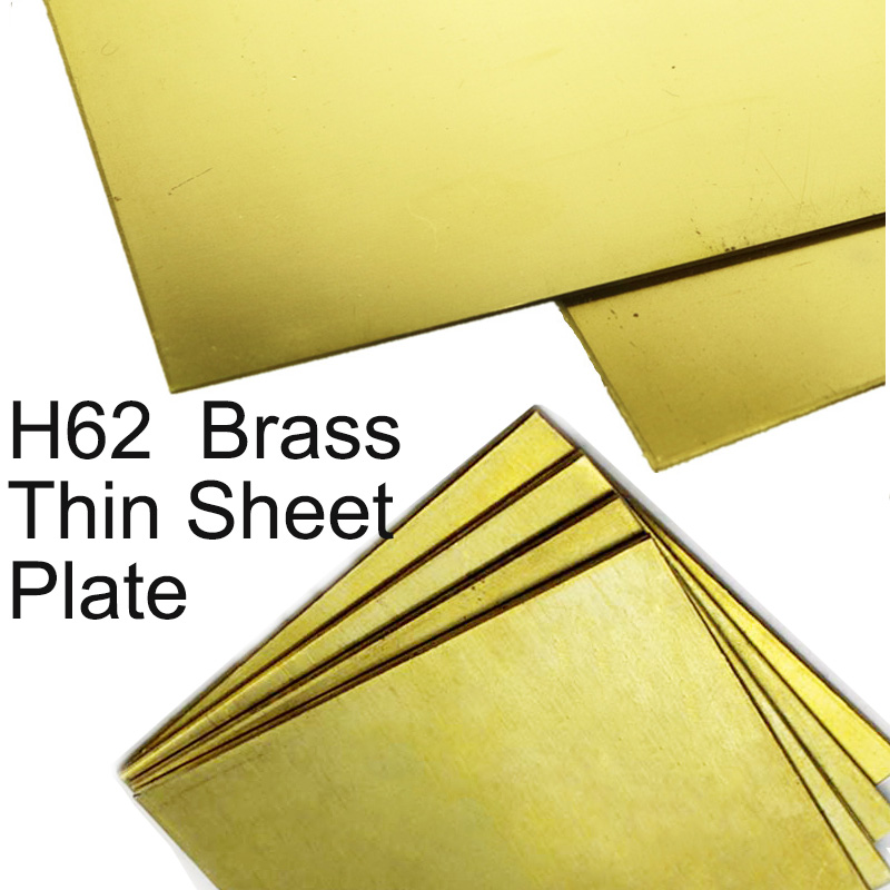 Brass Sheet Plate H62 Cu Customized Size CNC Frame Model Mould DIY Contruction Brass Pad Laser Cutting 100x100mm 200x200mm