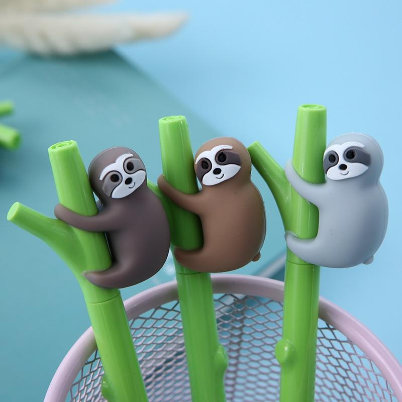 1 Pcs Cute Sloth Gel Pen Black Blue Ink Pen School Office Supply Escolar Papelaria