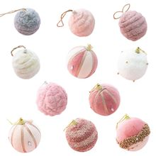 Plush-Ball-Ornaments Christmas-Decorations Shatterproof Tree Drop-Ship