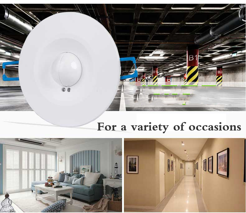 Image 3 - High Quality 360degree 600w/1200w Microwave Smart Motion Sensor AC220 240V Light Radar Switch Ceiling Recessed Wall CM090-in Switches from Lights & Lighting
