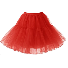 Fast Shipping Yellow Red Women Ballet Tulle Mesh Mini Skirts Rockabilly Party Cl