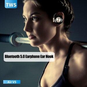 Image 4 - Air V5 TWS Draadloze Hoofdtelefoon Stereo Bluetooth 5.0 Oortelefoon Oorhaak Noise Cancelling Bluetooth Headset Met Microfoon